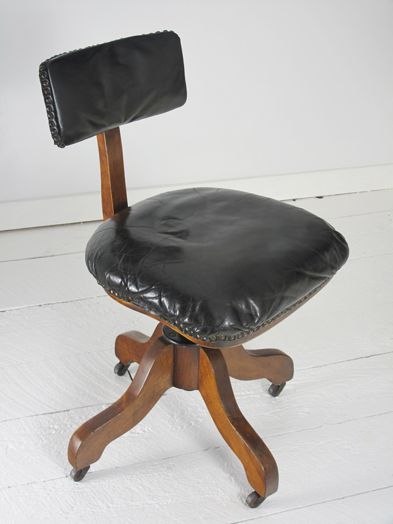 very unique antique office chair made by sikes of philadelphia